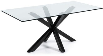 La Forma Australia Masa Dining Table Black Legs With Clear Glass Top