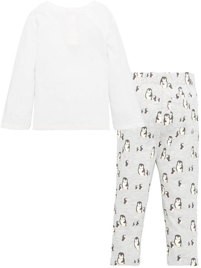 Thumbnail for your product : MANGO Baby Boys Penguin Pyjamas - White