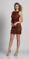 Dave and Johnny Fitted Lace Bateau Neckline Homecoming Dress