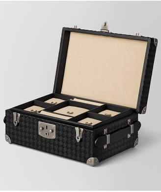 Bottega Veneta Nero Intrecciato Nappa Leather Jewelry Travel Case