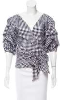 MLM Label Gingham Surplice Top w/ Tags