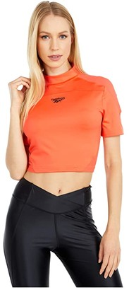 Reebok BBall Tight Top (Vivid Orange) Women's Clothing