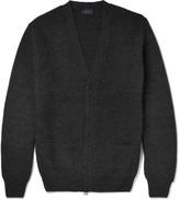 Lanvin - Waffle-knit Wool Zip-up Cardigan