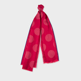 Paul Smith Women's Red Polka Dot Silk-Blend Scarf