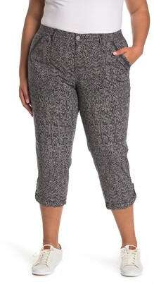 Democracy Cuffed Printed Ankle Pants