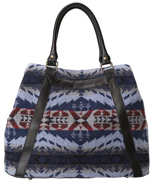 Pendleton Navy Hawkeye Tote (Navy Hawkeye) - Bags and Luggage