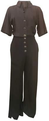 Chanel \N Navy Silk Jumpsuits