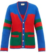 Gucci Colour-block Wool Cardigan - Mens - Multi