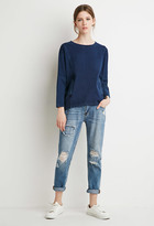 Forever 21 FOREVER 21+ Contemporary Oversized Front-Pocket Dolman Sweater