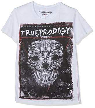 trueprodigy Casual Mens Clothes Funny and Cool Designer T-Shirts Shirt for Men with Design Crew Neck Slim Fit Short Sleeve Sale, Size:L, Colours: