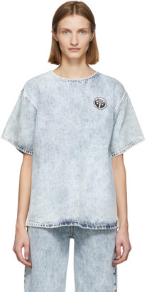 MM6 MAISON MARGIELA Blue Bleached Denim Blouse