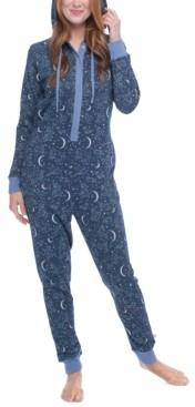 Munki Munki Constellations One Piece Hooded Fleece Pajama