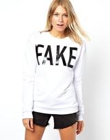 Asos Fake Sweatshirt in Plastecol Print