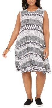 Style&Co. Style & Co Plus Size Printed Swing Dress, Created for Macy's