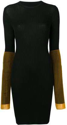Maison Margiela contrast sleeve rib knit mini dress