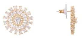 Nina Geo-Flower Crystal Stud Earrings