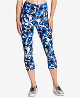 DKNY Sport Printed Illusion Cropped Active Leggings
