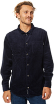 Rusty Buzzed Mens Ls Shirt Blue