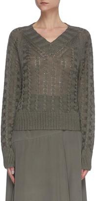 Theory Cord knit sweater