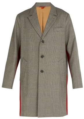 Barena Venezia - Prince Of Wales Checked Wool Overcoat - Mens - Grey Multi