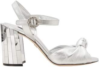 Dolce & Gabbana Bronze leather sandals