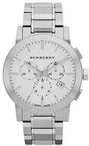 Burberry Mens Stainless Steel Large Chronograph Watch