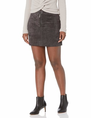 Blank NYC Womens Real Suede Mini Skirt - Grey - 30