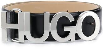 HUGO Logo Plaque Belt