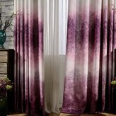KoTing Drapes,Dream of Foggy Purple Tree Forest Window Curtains for Living Room,72W by 100L-Inch(1 Panel Grommet Top)