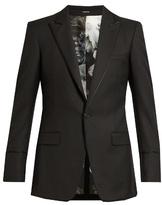 Alexander McQueen Contrast-piping wool blazer