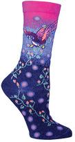 Ozone Women's Floral Bird Crew Sock (2 Pairs)