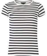 Dorothy Perkins Womens Navy Striped T-Shirt
