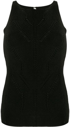 Ermanno Scervino Ribbed-Knit Tank Top