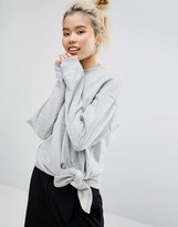 Weekday Sweatshirt with Knot Detail