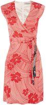 Marella MACULA cap sleeve contrast floral dress