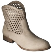 Mossimo Women's Katelyn Woven Top Ankle Boot - Taupe
