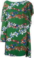 MSGM floral print asymmetric dress - women - Polyester/Viscose - 40