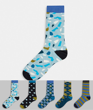 Happy Socks HS by 5 pack blue multi socks