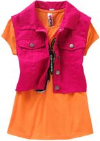 Knitworks butterfly tee & crop vest set - girls 7-16
