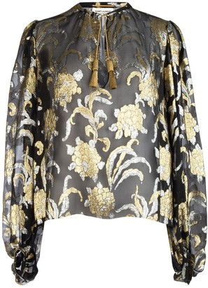 Saint Laurent Embroidered Blouse