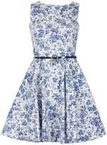 Izabel London *Izabel London Blue Floral Skater Dress