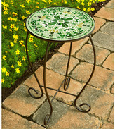 Green Floral Mosaic Table