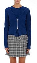 J.W.Anderson Women's Zip-Front Sweater-NAVY