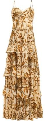Johanna Ortiz All I've Ever Known Jaguar-print Silk Gown - Womens - Cream Print
