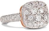 Pomellato Nudo Solitaire 18-karat White Gold, Rose Gold And Diamond Ring - 15