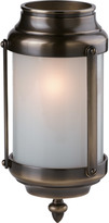 Rejuvenation Classic 3-1/4in. Brass and Glass Cylinder Lantern in Antique Copper