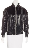 adidas Ponyhair-Accented Zip-Up Jacket w/ Tags