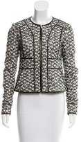Diane von Furstenberg Tweed Leather-Trimmed Jacket