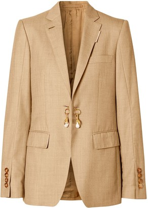 Burberry Link-Detail Single-Breasted Blazer