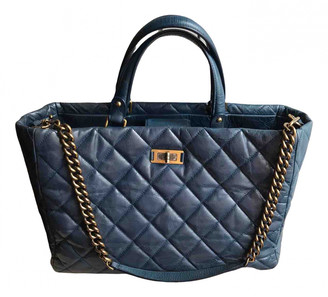 Chanel Navy Leather Handbags